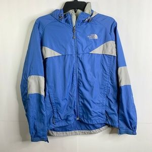 The North Face Womens Blue Gray Rain Jacket Size M
